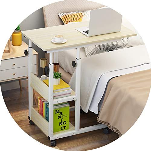 Möbel Tabellen-Computer-Tabelle for Haus Schlafzimmer Bett Einfache Lifting Studie Tisch Abnehmbare Sofa Beistelltisch Eck-Doppel Storage Table (Color : D, Size : 60 * 40 * 66-84cm)