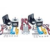 Pieza de impresora 3D TEVO Tarántula Dual Extrusora Actualización Totalmente Kits Dual Extrusor y ventilador de refrigeración 3010 12V con dos motores Nema de 17 pasos