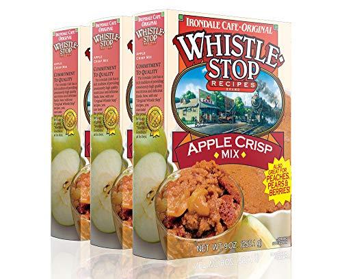 Original WhistleStop Cafe Recipes | Apple Crisp Batter Mix | 9-oz | Case of 3