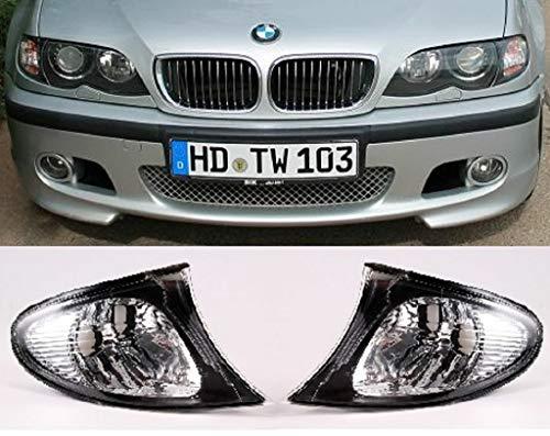 BMW 3er E46 Limo Touring Blinker Set weiss Facelift Rand schwarz