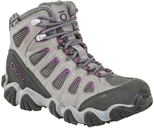 Oboz Sawtooth II Mid B-Dry Hiking Boot - Women's Pewter/Violet 8