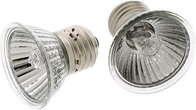 Homyl Lampe Reptile de Chauffage en Céramique Ampoule UVA UVB Ampoule E27 Reptile - 25W