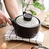 XIAOYANG Cazuela Sggggdhand pintado lento olla de estofado, estufa de utensilios de cocina, cazuela de cerámica japonesa con pote de sopa, olla de sopa, olla caliente de Donabe, olla de arcilla, cazue