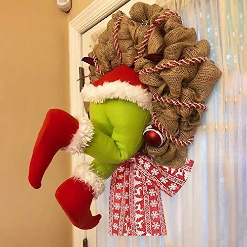 semen Weihnachtskranz Handarbeit Weihnachten Garland Elfen Deko-Kranz für Kamin Autotür Party Home Decor