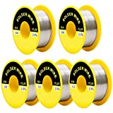 AxPower 5 Packs 63-37 Tin Lead Rosin Core Solder Wire for Electrical Soldering 50g Diameter 0.5mm 0.6mm 0.8mm 1.0mm 1.2mm (5 PCS)