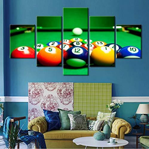 Abstract Leinwand Malerei Wandkunst Rahmen HD Drucke 5 Stücke Tischtennis Bild Billard Poster für Wohnkultur-1