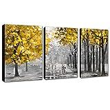 FajerminArt 3 Paneles de Lienzo Abstracto Moderno, Pintura Decorativa, Arte Adecuado para Sala de...