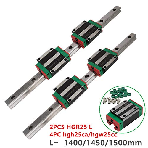1500mm HGH25CA CNC Set High Efficiency HGH25 25mm Linear Guide Rail HGR251400/1450/1500mm +HGW25 CC HGH25 CA Bearing Blocks for CNC Parts