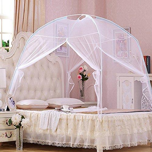 GLITZFAS Myggnät dubbelsäng myggnät insektsskydd flygggnät dubbelsäng myggnät säng (A-vit, 120 x 200 cm)