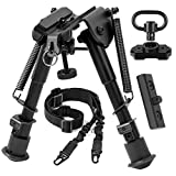 "XOOBIU 6"" to 9"" Bipod with Adapter 2 Point Sling & Sling Swivel Mount for M-Rail"