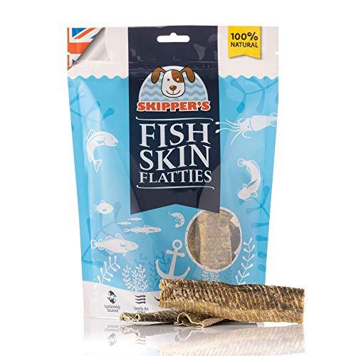 SKIPPER'S Fish Skin Flatties Sticks - Handmade and Air-Dried - 100% Dog...