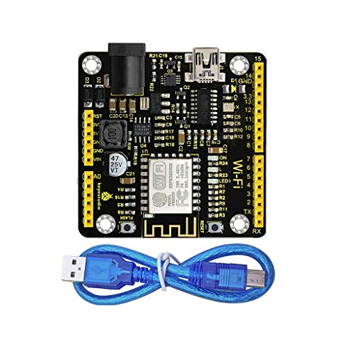 perfeclan Placa de Desarrollos WiFi + Cable USB para Arduino Keystudio Visualización Rápida Herramientas Manuales