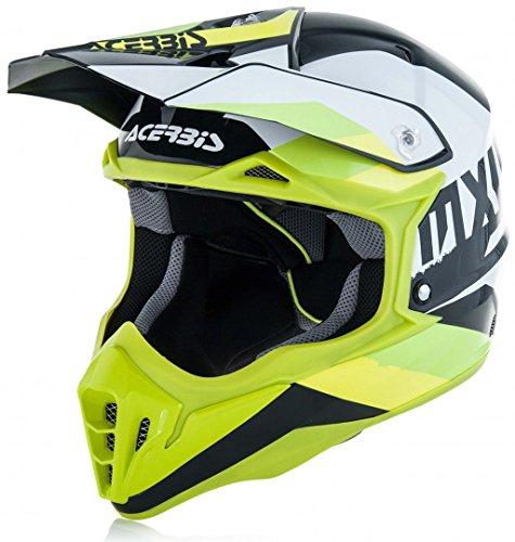 Acerbis casco impact 3.0 bianco/verde xl