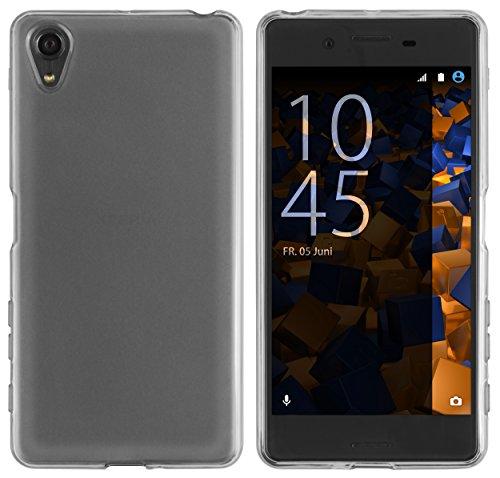 mumbi Hülle kompatibel mit Sony Xperia X Handy Hülle Handyhülle, transparent schwarz