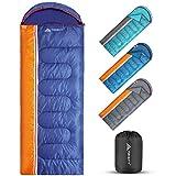 Forceatt Sac de couchage 3 saisons, usage intérieur et extérieur, ultra léger, adapté à la randonnée, au...