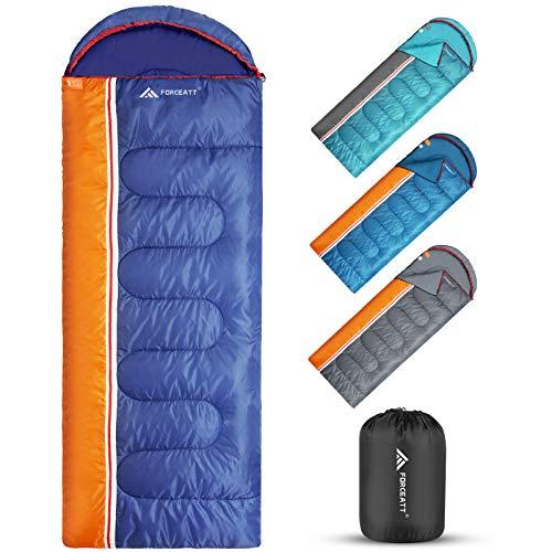 Forceatt Saco de dormir de 3 estaciones, uso interior y exterior, impermeable, apto para adultos y adolescentes, saco de dormir tipo mochila, apto para acampar y actividades al aire libre