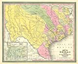 Historic Map : Texas at Annexation, Williams - Mitchell, 1846, Vintage Wall Décor : 30in x 24in