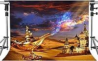 写真撮影のためのHDクラシックおとぎ話の背景クラシックライトストーリー城の背景アート写真スタジオ写真背景小道具7x5ftLSMT725