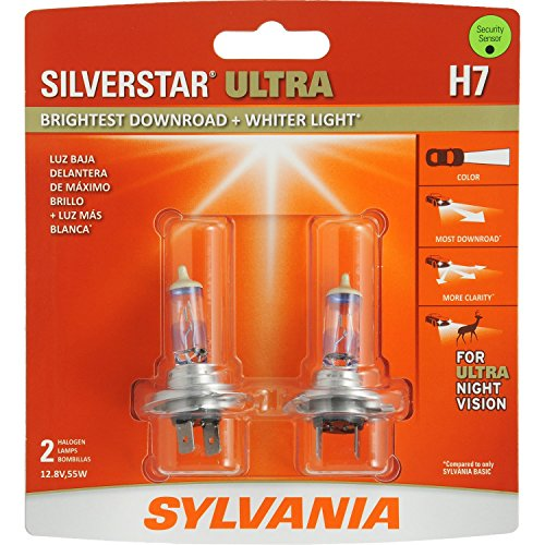 SYLVANIA - H7 SilverStar Ultra - High Performance Halogen Headlight Bulb, High Beam, Low Beam and Fog Replacement Bulb, Brightest...