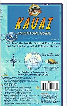 Kauai Hawaii Adventure Guide Franko Maps Waterproof Map