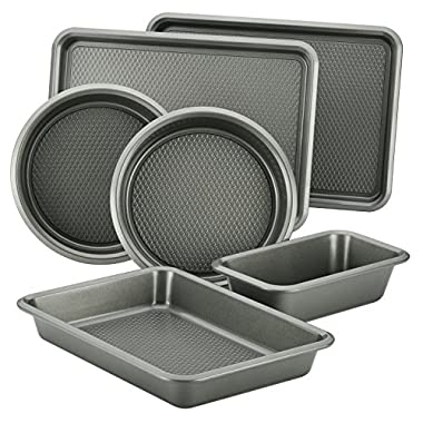 Ayesha Curry Bakeware Set, Silver, 6-Piece