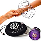 TOROIDZ ® Flow Rings (ALL COLOURS) w/ Velvet Bag - Amazing Magic Science Toy - 3D ARM SPRING - Interactive Museum, Circus, Anti Stress, Stocking - All Ages Christmas Gift