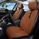 Red Rain Universal Front Car Seat Covers Leather Orange Car Seat Cover + Premium All Gel Seat Cushion Relief The Pain 7PCS Set for Car/Trucks/Office Chair (C-Orange) -  Haihong