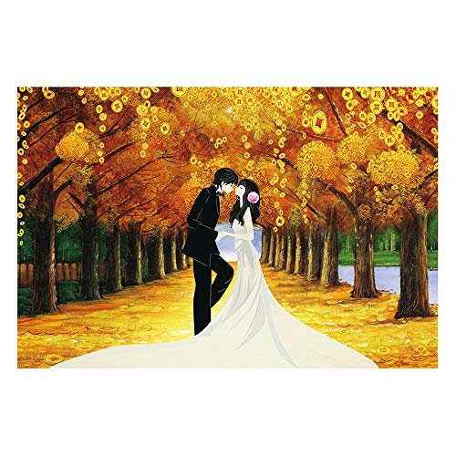 Trouwen in de Golden Forest, Beautiful Scenery puzzel, Jigsaw puzzels for Grown Ups, Jigsaw Puzzel for Volwassenen (Size : 300pieces)