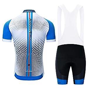 Ciclismo Maillot Hombres Mangas Transpirable Jersey + Pantalones Cortas de Ciclismo Conjunto de Ropa Ciclismo para Deportes al Aire Libre Ciclo Bicicleta
