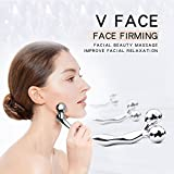3D V Face Ball Facial massager, Lift Body Slimming Skin Care Tightening Tools, Platinum Material Body Spa face roller of Blood Circulation and Tighten Compact fitness for Women and Men