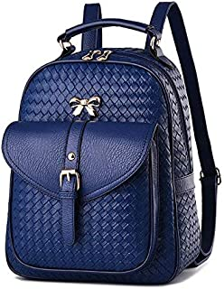 Fashion women Casual style school bag Leather backpack