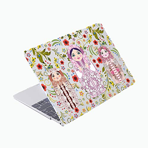 SDH Case Compatible Older for MacBook Pro Retina 13 inch (Release 2015-end 2012),Plastic Pattern Hard Shell & Gradient Keyboard Skin Cover for Mac Book Pro 13 (Model:A1502/A1425), Fuwa 1