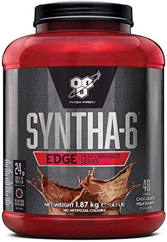 BSN Nutrition Syntha 6 Edge Whey Protein Isolate, Proteinas para Masa Muscular, Suplementos Deportivos en Polvo con Proteinas Whey, Batido de Chocolate, 48 Porciones, 1.87kg