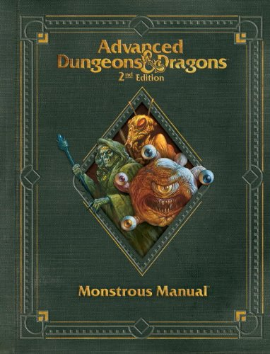 Premium 2nd Edition Advanced Dungeons & Dragons Monstrous Manual (D&D Core Rulebook)