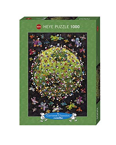 Heye- Mordillo Puzzle Pallone da Calcio, 1000 Pezzi, Multicolore, 29359