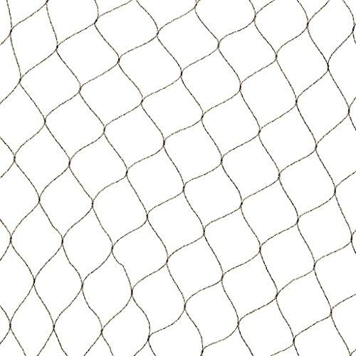 Filet anti-oiseaux Primo en maille tricotée polyéthylène 12gr/m² noir 10x10m