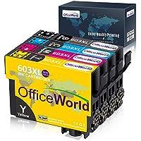 OfficeWorld 603 XL Reemplazo para Epson 603XL Cartuchos de Tinta Compatiable con Epson Expression Home XP-2100 XP-2105 XP-3100 XP-3105 XP-4100 XP-4105, WorkForce WF-2810 WF-2830 WF-2835 WF-2850