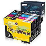 OfficeWorld 603 XL Reemplazo para Epson 603XL Cartuchos de Tinta Compatiable con Epson Expression Home XP-2100 XP-2105 XP-3100 XP-3105 XP-4100 XP-4105, WorkForce WF-2810 WF-2830 WF-2835 WF-2850