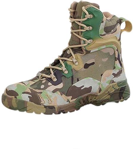 MUCHAO Bottes Tactiques Unisexes-Adultes Haut-Top Chaussures de Camouflage d'entraîneHommest d'entraîneHommest Militaire en Plein air  vente en ligne