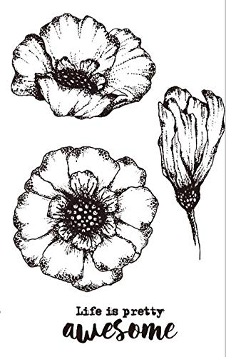 Flower Transparent Clear Silicone Stamp/Seal for DIY Scrapbooking/Photo Album Decorative Clear Stamp A1438