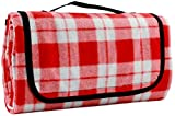 Large Picnic Blanket   Oversized Beach Blanket Sand Proof   Outdoor Accessory for Handy Waterproof Stadium Mat   Water-Resistant Layer Outdoor Picnics   Great for Camping on Grass and Portable