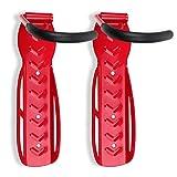 Schramm® Soporte de Pared para 2 Bicicletas Soporte de Pared para 2 Bicicletas Soporte de Pared para 2 Bicicletas Soporte de Pared para Bicicletas, Farbe:Rot
