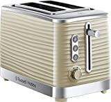 Russell Hobbs 24374 Cream Inspire 2 Slice Toaster, Wide Slot with Frozen Cancel