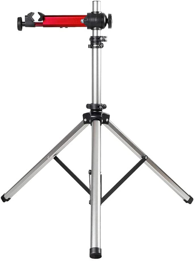 S SMAUTOP Bike Repair Stand Foldable Aluminum Alloy Bicycle Repair Rack with Adjustable Height Foldable Home Bike Cleaning Stand with Non-Slip Rubber Clip Suitable for All Kinds of Bicycles : Sports & Outdoors