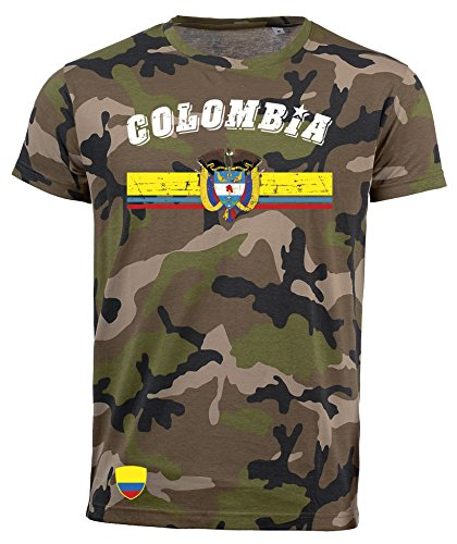 aprom T-Shirt Kolumbien Colombia Camouflage Army NC D03 (L)