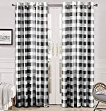 DriftAway Buffalo Checker Pattern Lined Thermal Insulated Blackout and Room Darkening Grommet Window Curtains Printed Plaid 2 Layer Set of 2 Panels 52 Inch by 84 Inch Black blackout curtains Dec, 2020