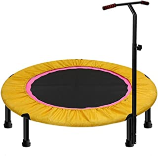 SYDDP 40″ Exercise Trampoline for Adults or Kids, Mini Fitness Trampoline with Adjustable T-bar Stability Handle Aerobic Bouncer Trampoline for Gym/Home, Max. Load 200kg in Yellow Bouncer