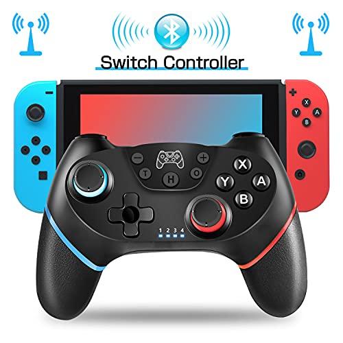 Wireless Controller Switch , Bluetooth Switch Joystick Gamepad 6-Achsen-Somatosensorik mit Vibration Unterstützung der Gyroskopachse der Vibration Doppelmotors