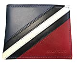 Tommy Hilfiger Passcase and Valet Bifold Wallet-Red/Navy/White