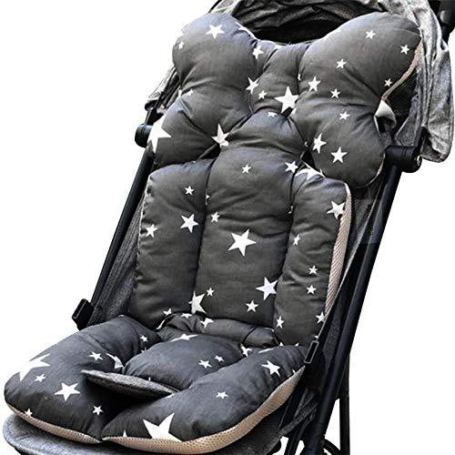 ChicSoleil Kinderwagen Sitzauflage Dicke Weiche Sitzkissen Baumwolle Matten Kissen Sitzeinlage Sitz Pad für Kinderwagen Babywagen Buggy, 35x78cm